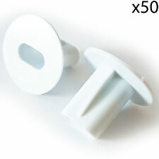 50x 8mm Bianco Doppio Shotgun Cavo Bushes -attraverso la parete Cover- RG6
