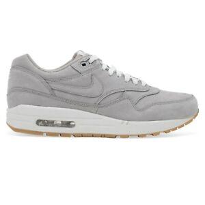 Details about Nike Air Max 1 LTR Premium Medium Grey Gum Leather 705282 005 Mens Size 8.5
