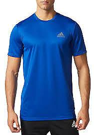 Adidas Men's Climalite Essentials Tech Short Sleeve Royal Crew Neck Tee