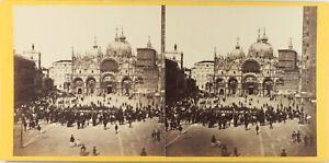 Italia-Venezia-Place-Chiamato-Animata-Foto-Stereo-Albumina-Ca-1860