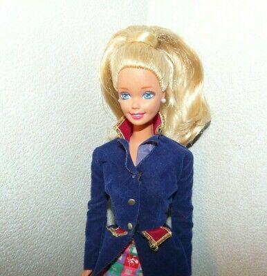 "BARBIE /""Fashionistas/"" Doll #91 New. Varsity//Plaid Outfit w//Blonde Hair w//Bonus"