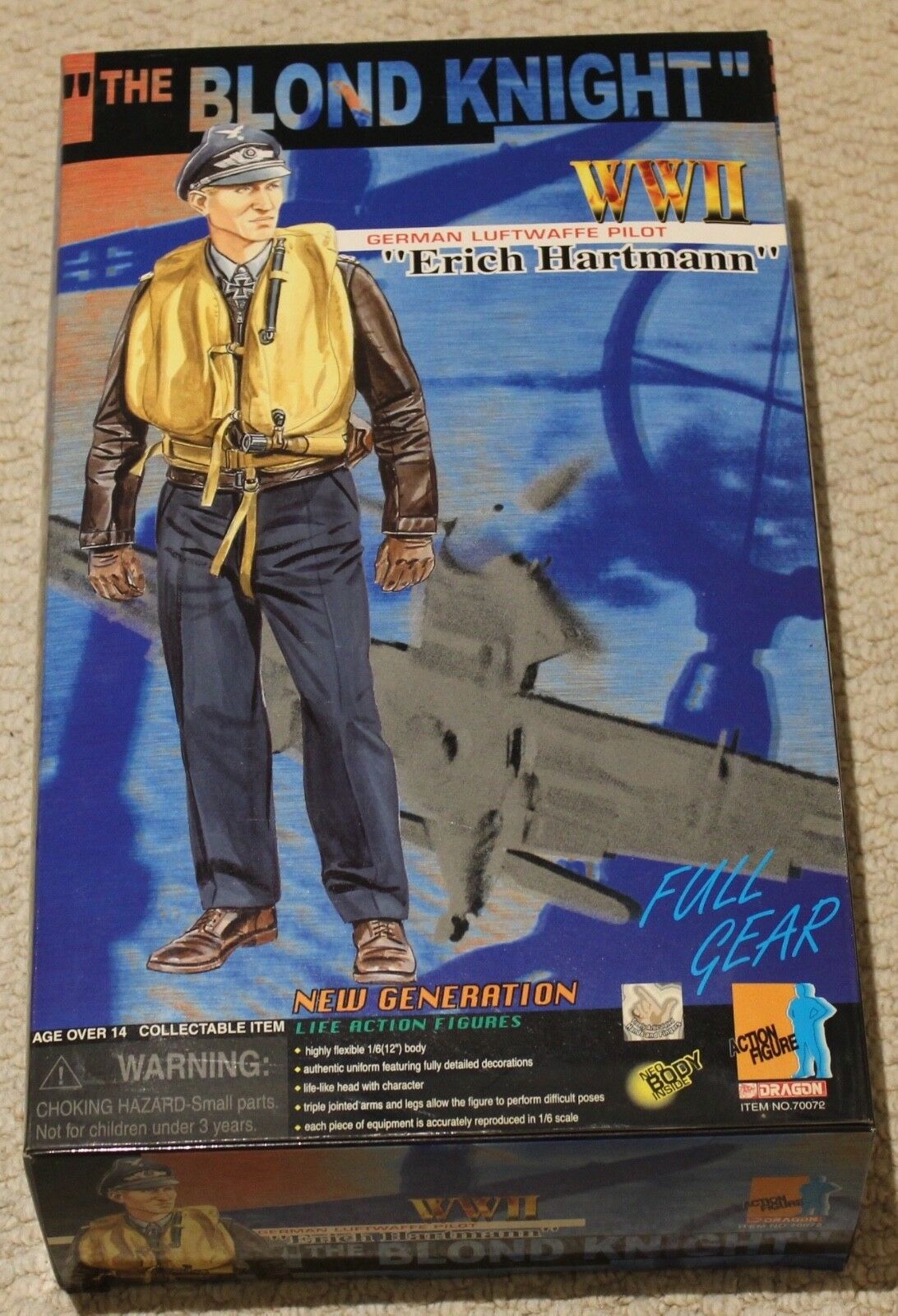 Dragon action figure 1 6 ww11 german pilot hartmann 12'' boxed did cyber hot toy