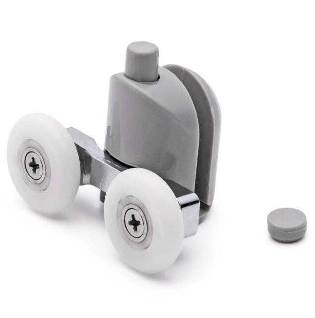 2x Shower Door Bottom Rollers Wheel  Diameter 25mm for 4mm-8mm Thickness Glass