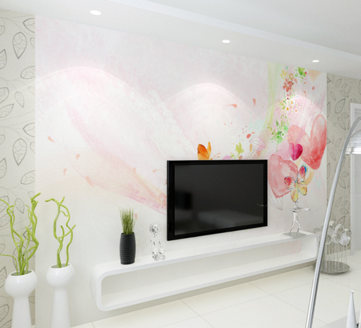3D Rainbow Love Wallpaper Murals Wall Print Wallpaper Mural AJ WALL AU Kyra