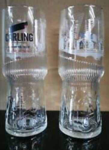 2 x Carling Half Pint Pint Glases new and unused 2019 design Bar Man Cave Gift