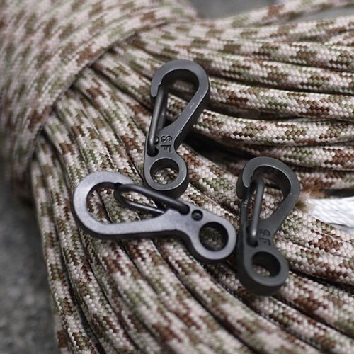 10x D Ring Shape Carabiner Spring Snap Key Chain Clip Hook Lock Outdoor Buckle