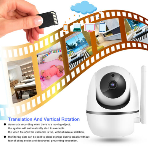 "Wireless 2.4GHz Intercom Baby Monitor 2.4/"" TFT LCD Video Camera LED Night View"