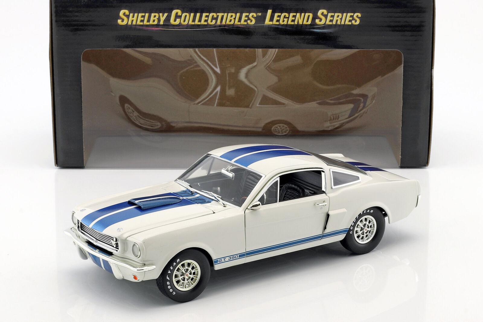 Ford Mustang Shelby GT GT GT 350 année de construction 1966 blanc / bleu 1:18 ShelbyC | Moelleux Et Léger  b2a283