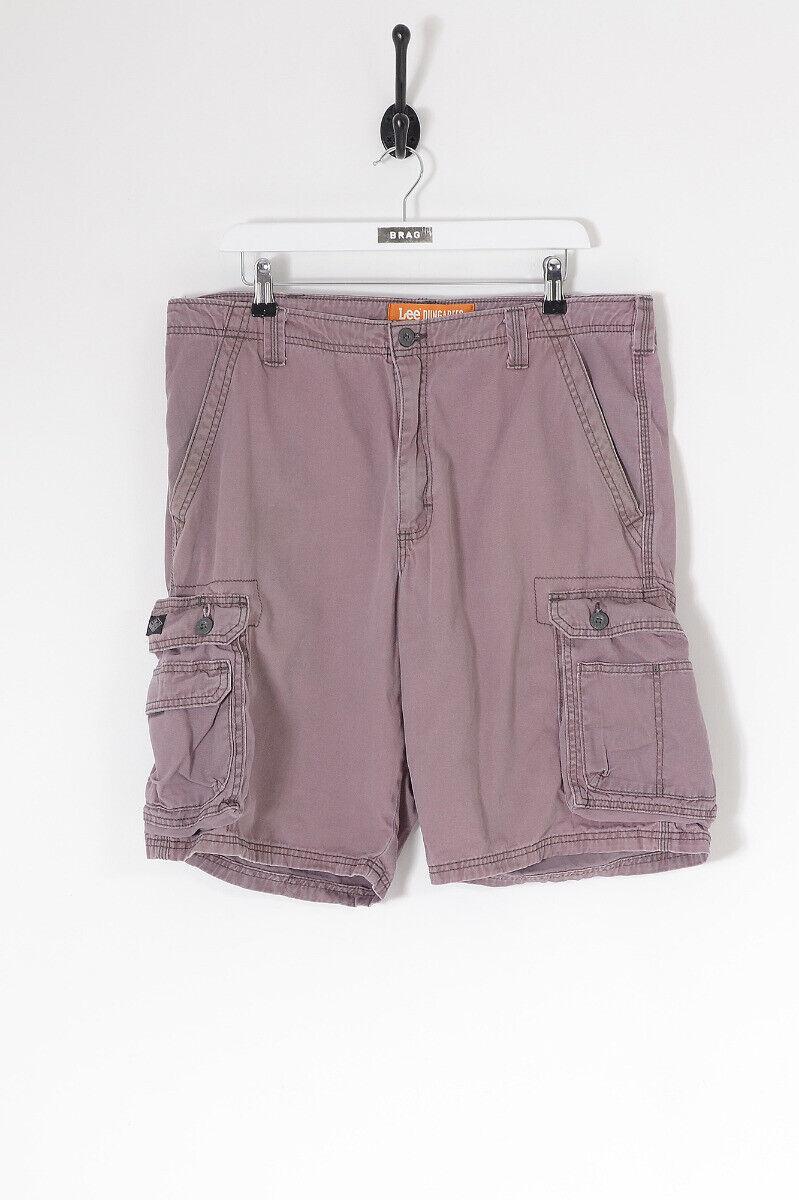 Vintage Lee Eingeengt Cargo Shorts Pink (W36)