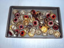50 x German Military / Fire Brigade Peaked Cap Cockade Badges Assorted