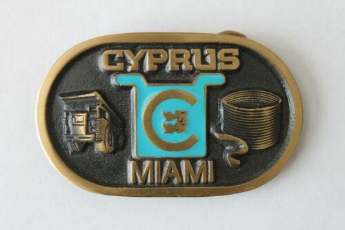 Belt Buckle Men Brass Metal Cyprus Mining Gold Truck Mineral Mining Miami