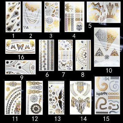 Fashion Tattoo Stickers Temporary Body Art  Waterproof Removable Jewelry Tattoo