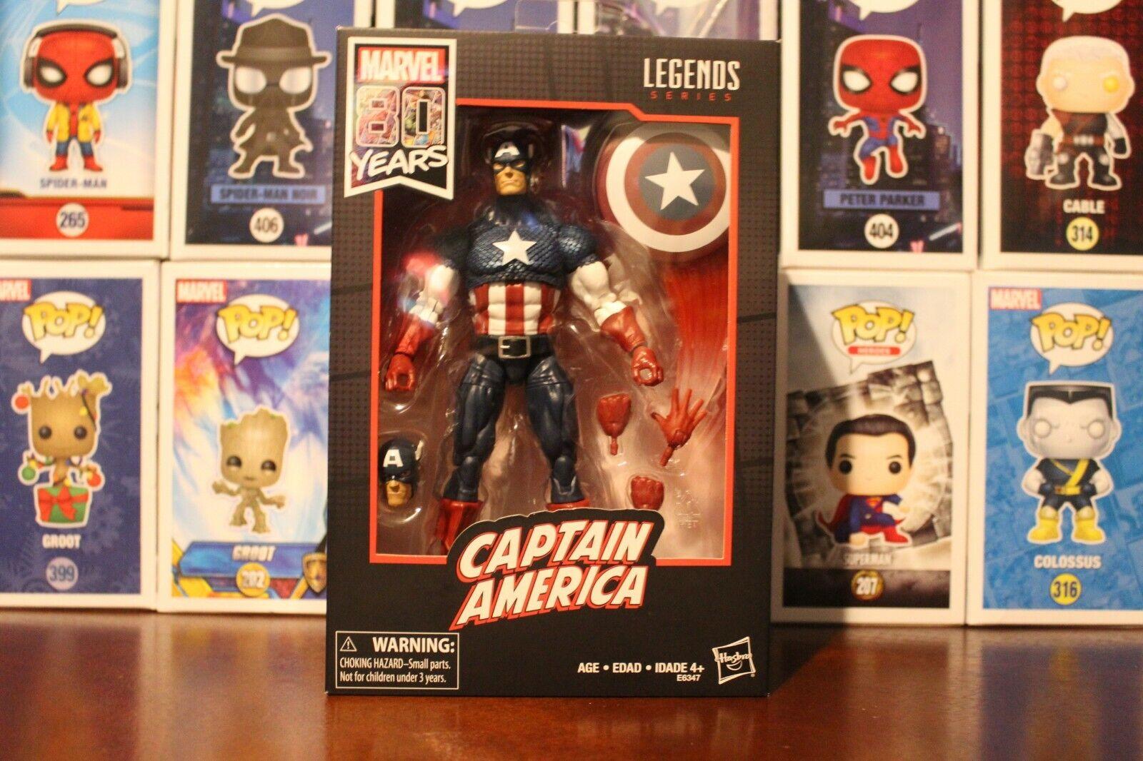 Marvel Legends 80th Anniversary Walmart Exclusive Captain America azione cifra   protezione post-vendita