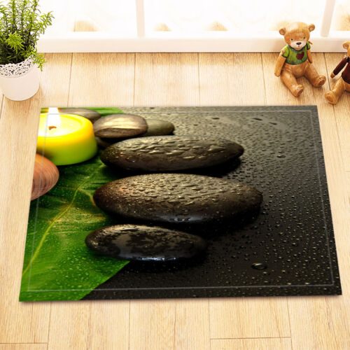 Candle Stone Zen Yoga Art Non-Slip Bath Mat Bathroom Rug Home Decor Carpet24x16/""