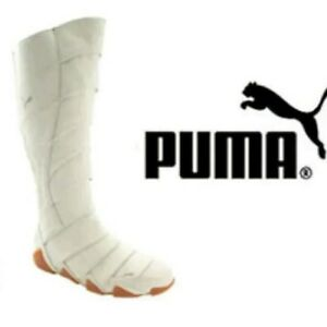 Distribuir Grifo Limitado  Rare Puma White Leather Ninja Racing Boots Mummy Wrap Moto SIZE 7 US | eBay