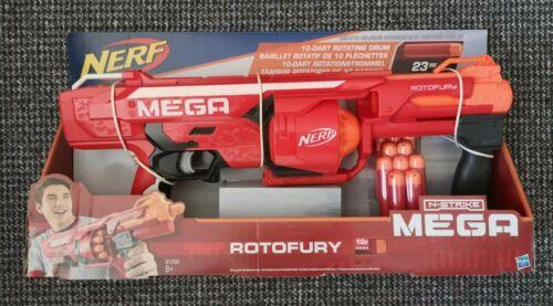 Nerf N-Strike Mega rotofury con 10 Mega Whistler Dardos Nuevo Y En Caja A Estrenar