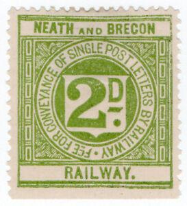 I-B-Neath-amp-Brecon-Railway-Letter-Stamp-2d