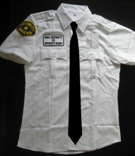Patches Tie Halloween Costume Cosplay Paul Blart Mall Accessories for Shirt
