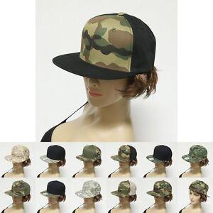 Digital Camouflage Flat Bill Snapback Camo Baseball Cap Hat Mens Womens New