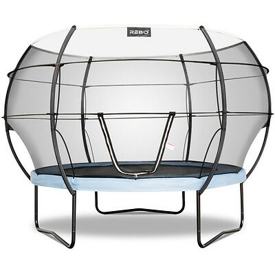Rebo Gravity Pod Trampoline with Halo lll Safety Enclosure - 10FT