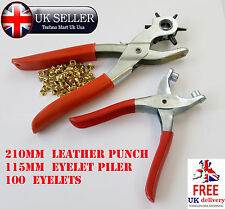 EYELET TOOLS AND BAGGED EYELETS BRASSED PLIERS TARPAULIN SHOES LEATHER PUNCH