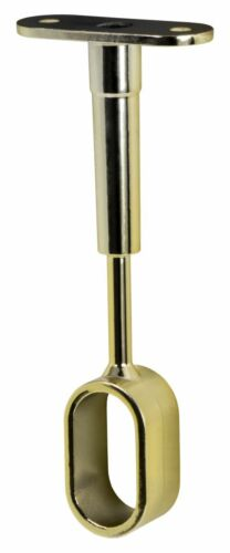 Schrankrohrlager Halterung oval Schrankrohr Mittelträger schwarz gold Halter