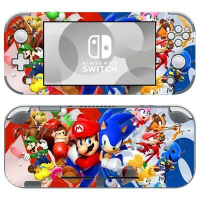 Nintendo Switch Lite Console Vinyl Skins Stickers Decals Super Mario Vs Sonic Ebay
