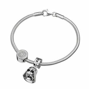 New Authentic Disney R2D2 charm Star Wars Bead Solid Sterling Silver Much Detail