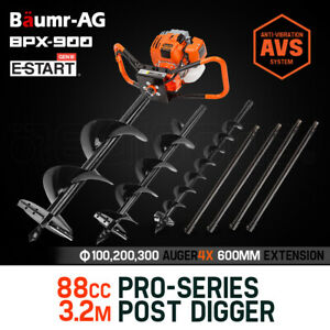 PRESALE Post Hole Digger 88cc Posthole Earth Auger Fence Borer Petrol Drill Bit