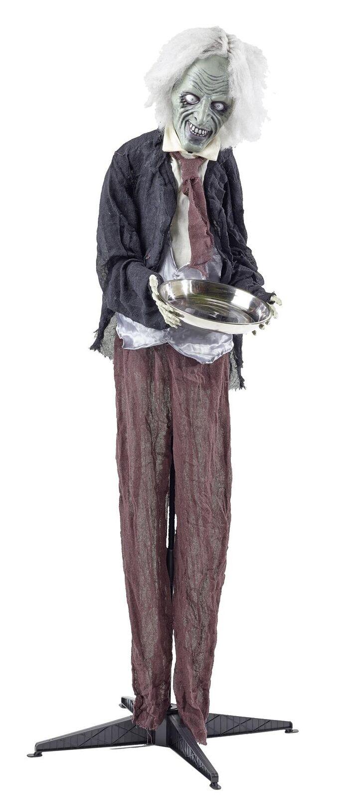 Halloween Butler Kellner Figur 160 cm lebensgroß Animation Animation Animation Dekoration gruselig ca0577