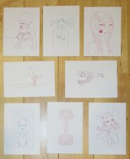 8 Tara McPherson Mini Prints/Handbills - Silkscreen Mini Print Set A