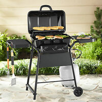 Gas Grill 3 Burner Bbq Backyard Grill W/ Side Shelves Barbecue Outdoor Cooking