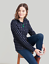 Joules-Fairdale-Print-Ladies-Sweatshirt-Colour-FRENCH-NAVY-SPOT thumbnail 1