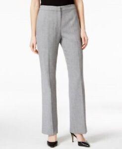 Details about New Kasper Kate Gray Classic Fit Work Dress Pants Women\'s  Plus Size 18 NWT