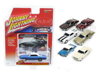 Muscle Cars Usa Set Of 6 Cars 1/64 Diecast Models By Johnny Lightning Jlmc002-b