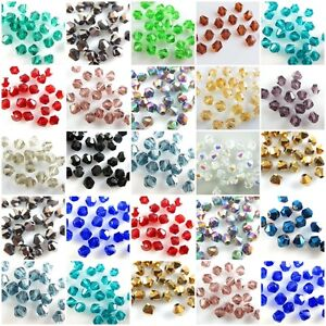 Bulk-1000Pcs-Faceted-Bicone-Crystal-Glass-Beads-Spacer-Jewelry-Findings-4mm