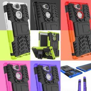 Hybrid-2-pzas-funda-de-proteccion-de-silicona-TPU-plastico-para-Sony-Xperia-cover-nuevo
