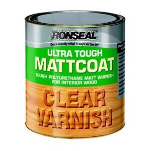 Details about Ronseal Ultra Tough Mattcoat POLYURETHANE Matt Varnish Coat  For Interior Wood