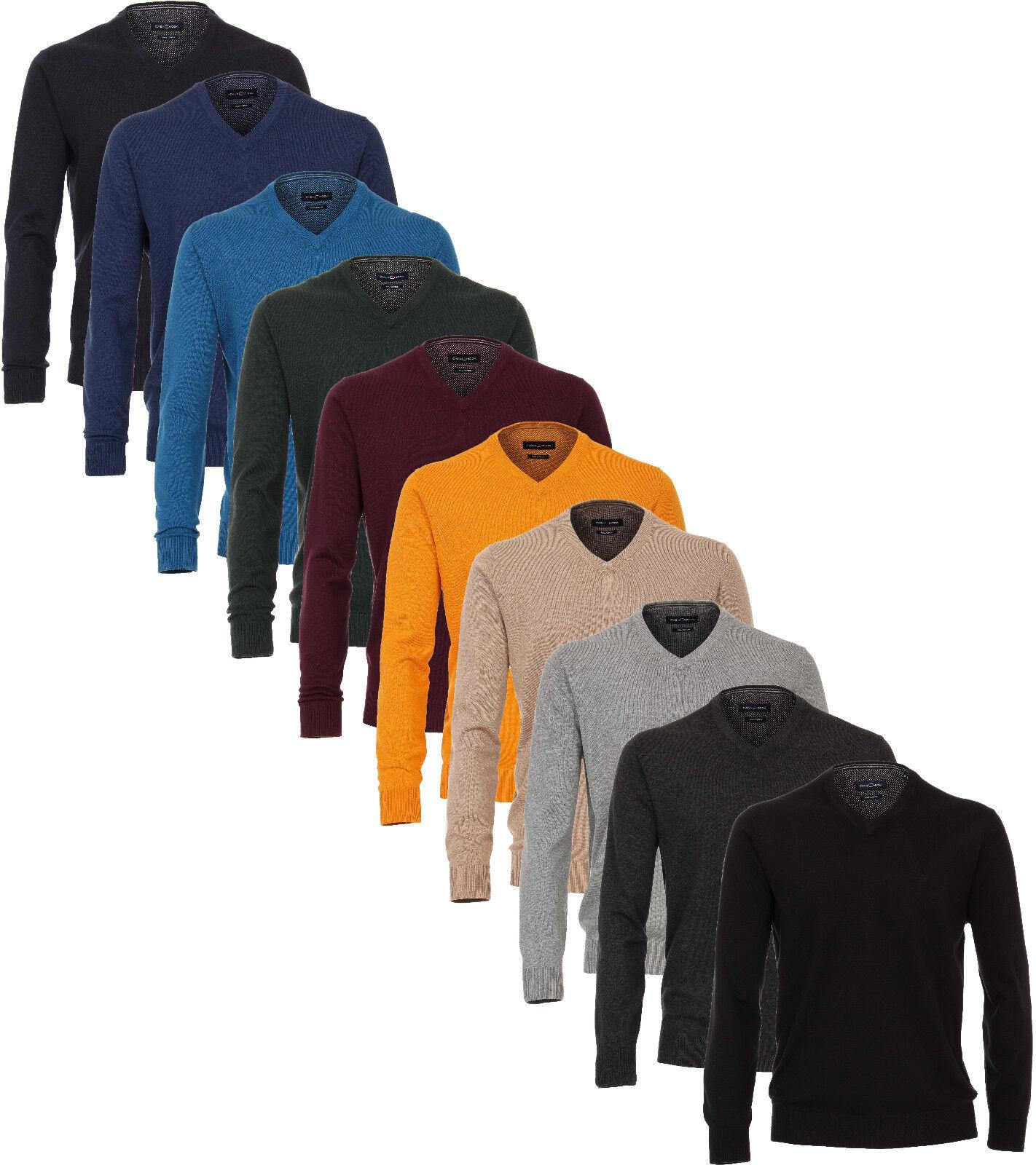 CASA MODA Pullover V-Ausschnitt in 10 Farben  Neu