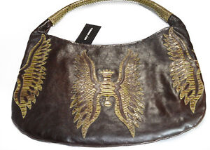 Devi-Kroell-Cafeskin-Leather-amp-Snake-Skin-Hobo-Hand-Bag