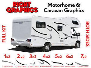 MOTORHOME VINYL STRIPES GRAPHICS STICKERS DECALS CAMPER VAN RV - Graphics for caravanscaravan stickers ebay