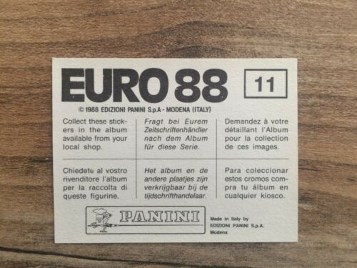 Panini Euro 88 stickers mint condition Select to complete your collection