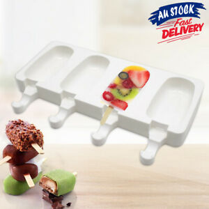 Silicone Block Pole Lolly Maker Mold Ice Cream Popsicle Frozen Mould DIY Tool