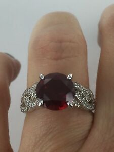 Dani By Daniel K 3.5 Ct Asscher Cut & Round Cz Bypass Style Silver Ring Size 5 Special Summer Sale Other Fine Rings
