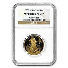 2000-W 1/2 oz Proof Gold American Eagle Coin - PF-70 NGC - SKU #19358