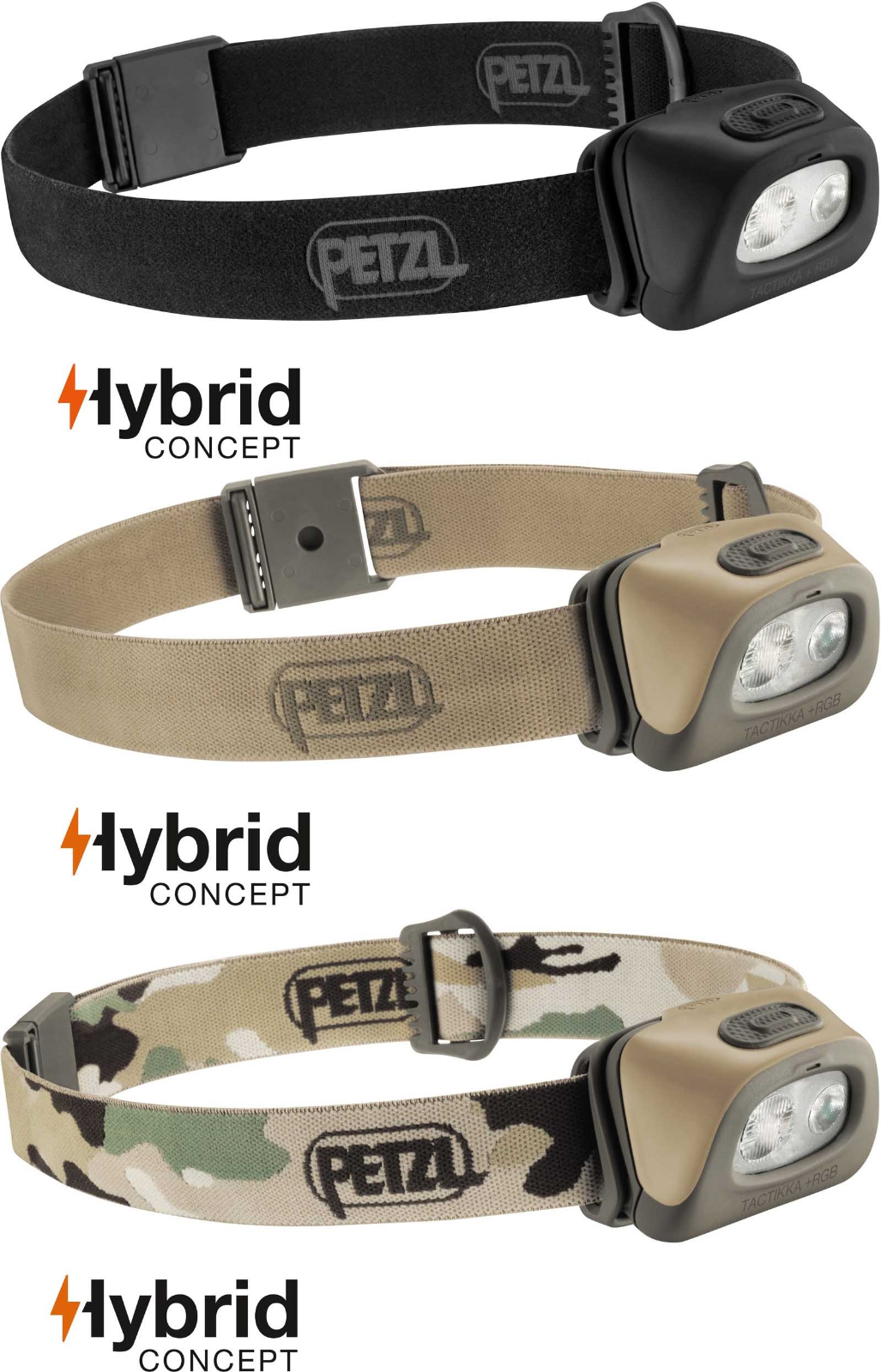 Petzl Tactikka + RGB 250 LuSies Outdoor Camping   Hunting Head lamp Torch