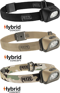 Petzl Tactikka + RGB 250 Lumens Outdoor Camping   Hunting Head lamp Torch