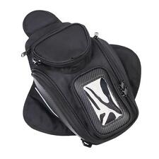 New Black Motorbike Saddle Bag  Magnetic Motorcycle Oil Fuel Tank Bags