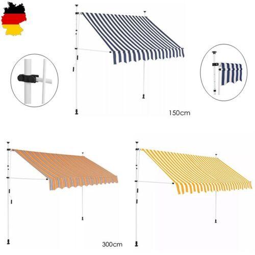 Markise Klemmmarkise Sonnenmarkise Einziehbare Balkonmarkise mit Handkurbel DE