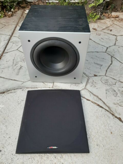 Polk PSW505 Powered Subwoofer used tested with grill